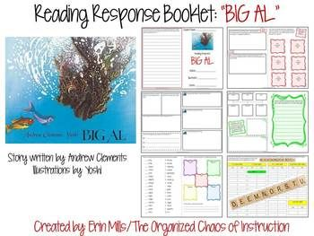 This download contains an 12-page mini-booklet that correlates to the story BIG AL by Andrew Clements & illustrated by Yoshi. The activities below are included in this booklet and may be completed independently, with a partner, whole group, or in literacy workstations.Before/During Reading PredictionsSticky Note Comprehension Parking LotAuthors PurposeIdentify Problem/SolutionPinpoint key events and their importanceChange in Character Feelings Throughout StoryCharacterization of Main…