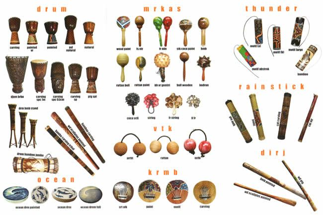 percussion instruments made in Indonesia