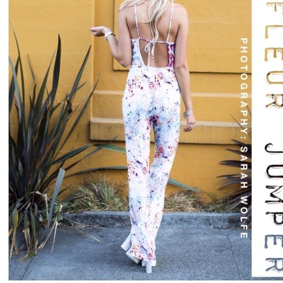 Floral Jumpsuit Forever 21 floral jumpsuit with open, strappy back Forever 21 Other
