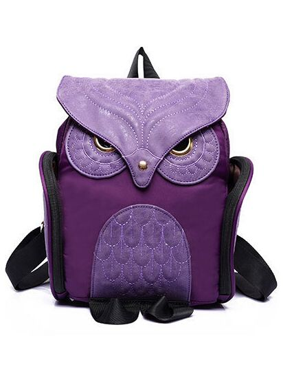 Shop Purple Owl Pattern Shaped Backpack online. SheIn offers Purple Owl Pattern…