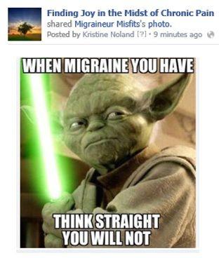 Migraine Funny Share Https Wwwfacebookcom Iwillfindjoy
