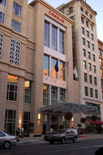 Conrad Hotel, Indianapolis. Beautiful hotel, great service