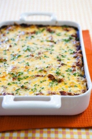 Easy Bacon, Egg & Cheese Breakfast Casserole Recipe. I want to try ...