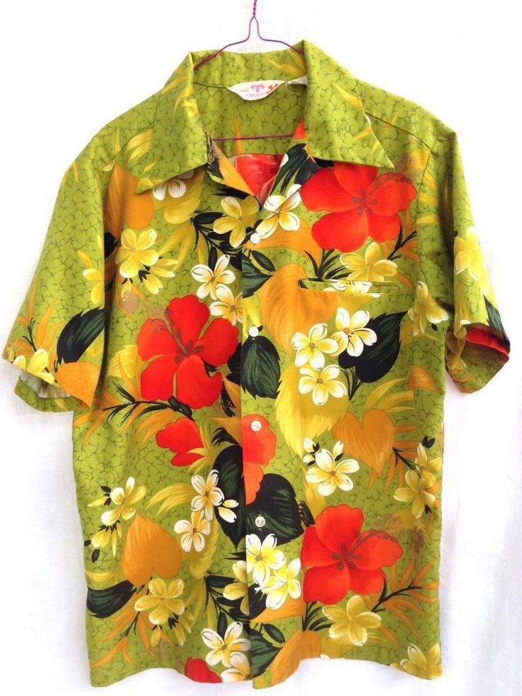 A rare Sears Hawaii Vintage Hawaiian Aloha Shirt. Classic 4-button front and long, pointed collar.  #SearsHawaii #Hawaiian
