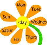 Monday, Tuesday, Wednesday, Thursday, Friday, Saturday, Sunday