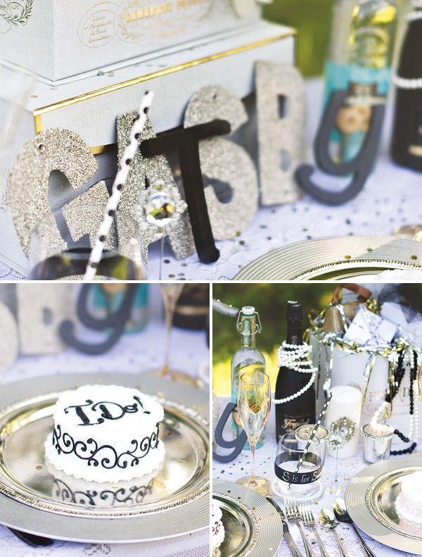 glitzy great gatsby inspired wedding table