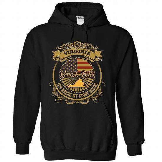 Great Falls - Virginia Is Where Your Story Begins 1306 - #gift wrapping #photo gift. BUY TODAY AND SAVE => https://www.sunfrog.com/States/Great-Falls--Virginia-Is-Where-Your-Story-Begins-1306-4816-Black-55012905-Hoodie.html?60505