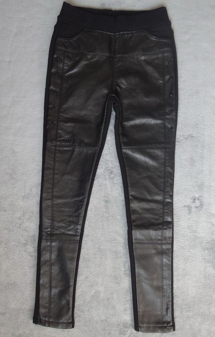 Европейская станция 2017 зимние новые женские заклепки сшитые PU кожаные брюки плюс бархат толстый износ леггинсы штаны штаны штаны - Taobao