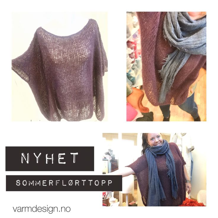Super light, soft top gor Norge winter and summer use. Knitted in suri alpaca
