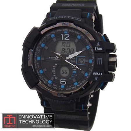 jam tangan digitec DG-2065T hitam biru