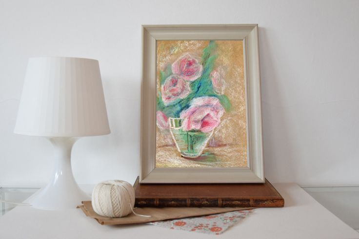 Flower Print, Printable Art, Rose Piones, Watercolor Flowers, digital Download, Rose Wall Art, Home Decor, Wall Decor by EkaDS on Etsy