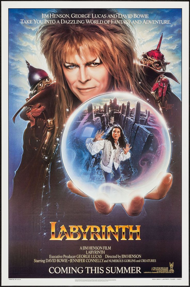 Labyrinth. Brilliant movie, great songs sung by David Bowie and it also has Jennifer Connelly.