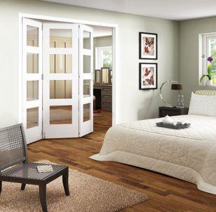 wickes ashton internal folding door white glazed 4 lite 3 door 2047mm x 1929mm wickes
