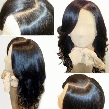 Side Parting Medium Loose Wave Lace Front Human Hair Wig