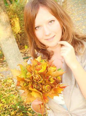 НАША СТРАНА МАСТЕРОВ: Букет из листьев.