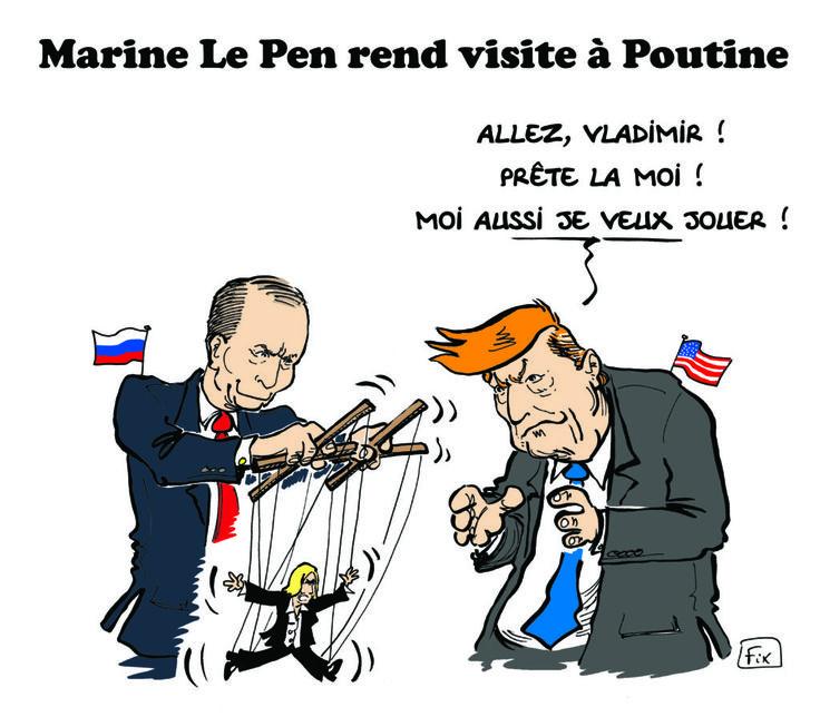 Marine Le Pen rend visite à Vladimir Poutine