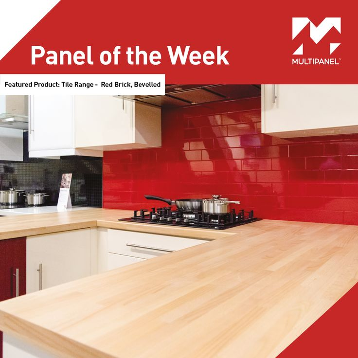 """Panel of the Week! This week our featured #paneloftheweek is our vibrant, Red Brick, Bevelled panel, part of our Tile Range.  """"No Grout, No Hassle"""""""