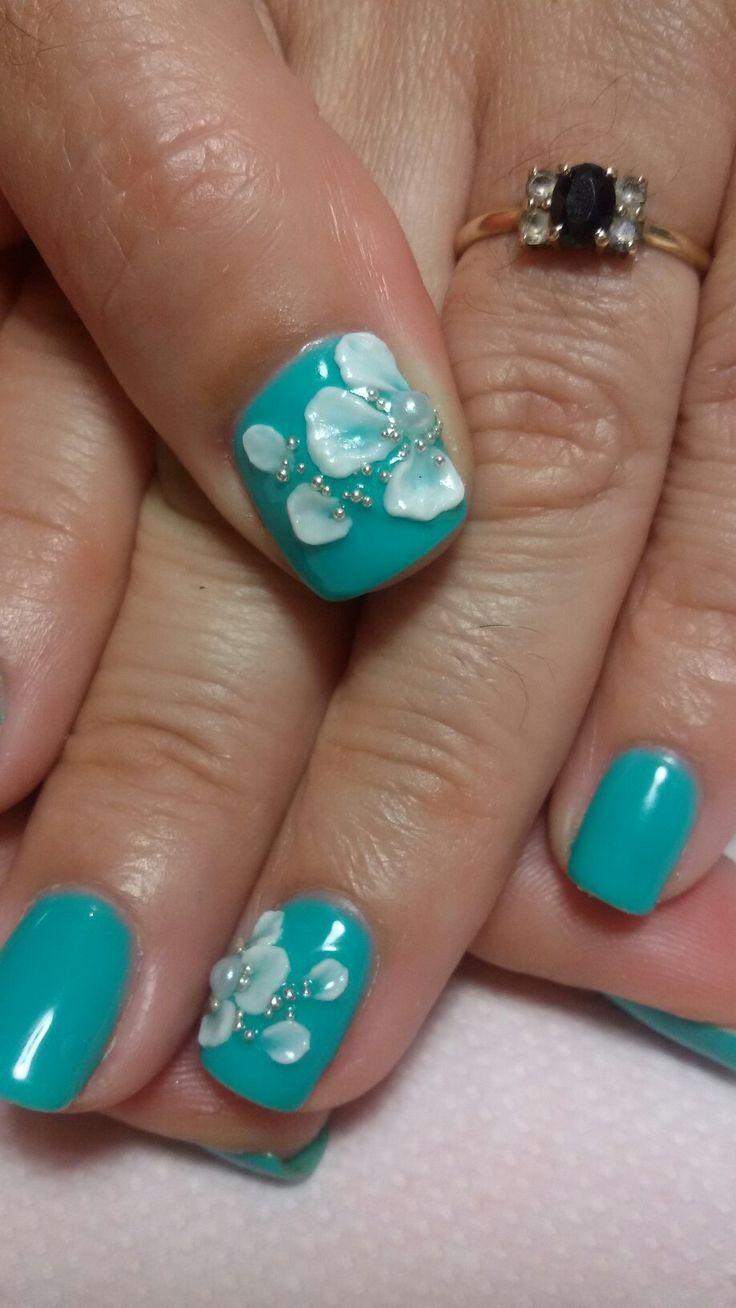 3d flowers_gel polish!!!