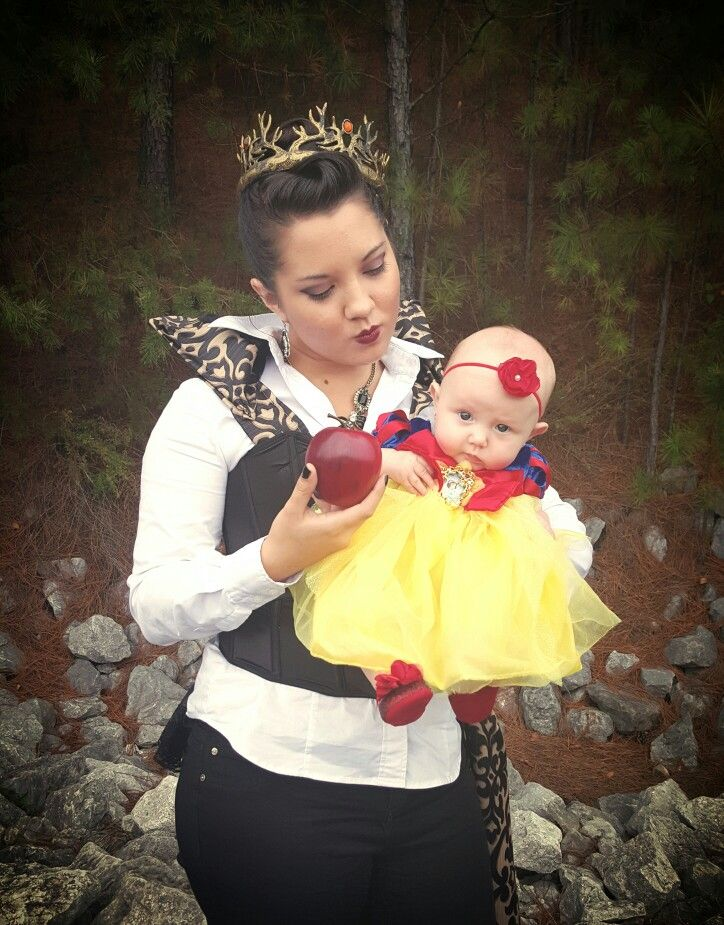 My evil queen costume with a baby snow white