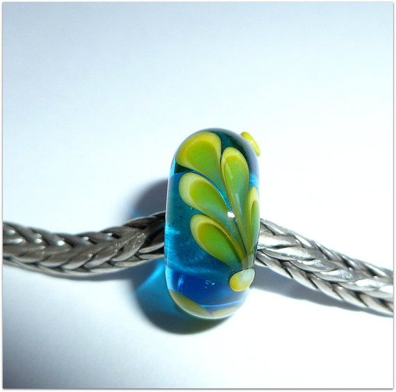 luccicare beads | Luccicare Lampwork Bead Feather Lined with Sterling by Luccicare, $23 ...