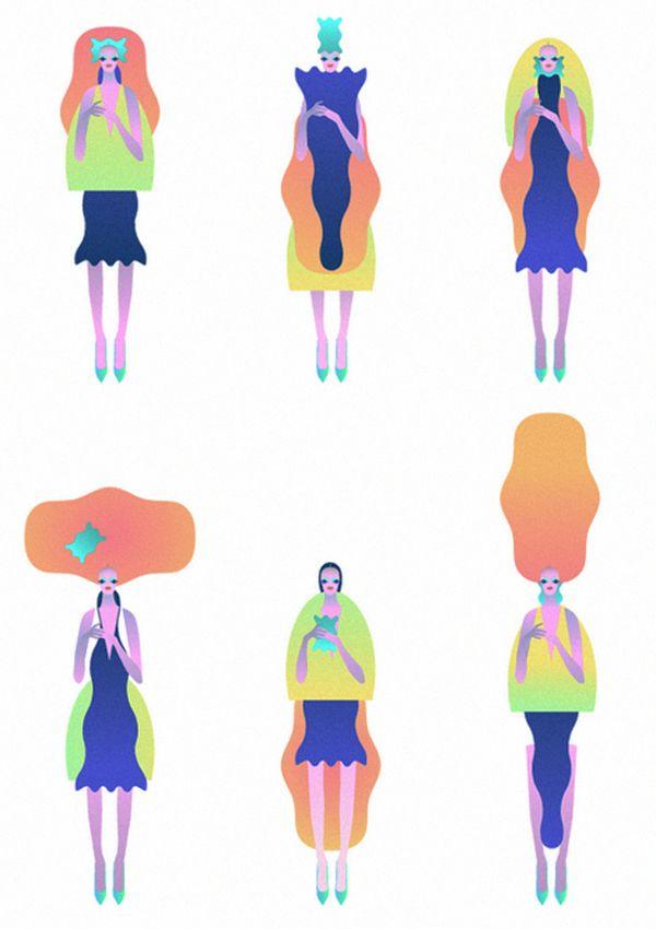 Shape Women on Illustration Served