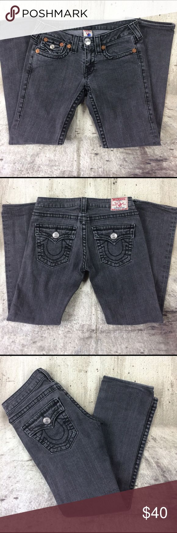 "True Religion low rise jeans True Religion straight leg jeans cotton and spandex blend inseam 29""rise 7.5"" True Religion Jeans Straight Leg"