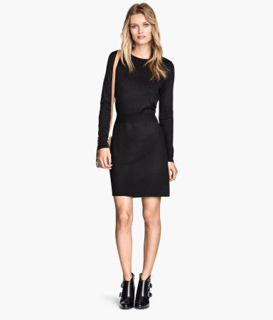 H&M Fine-knit Dress-This Dress is perfect for the holidays and very versatile.  Also I love the black.