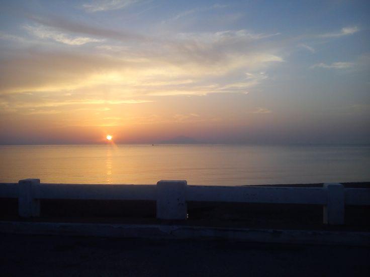 Myrina, Lemnos, Greece. Sunset.