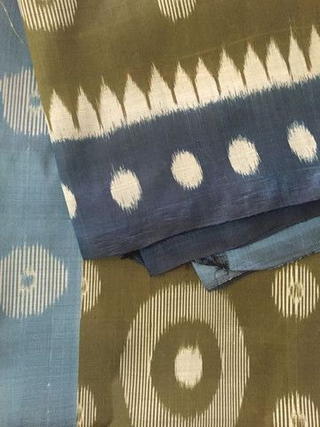 Moss Green and Blue Orissa Ikat Handwoven Saree