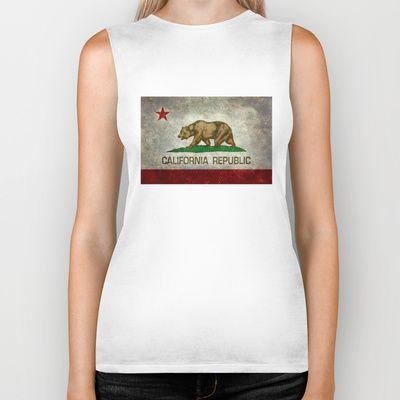 State flag of California Biker Tank