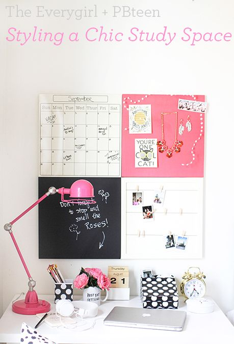 The Everygirl: 3 Styling Tips for a Chic Study Space! Here are their top three tips for styling YOUR best study space.