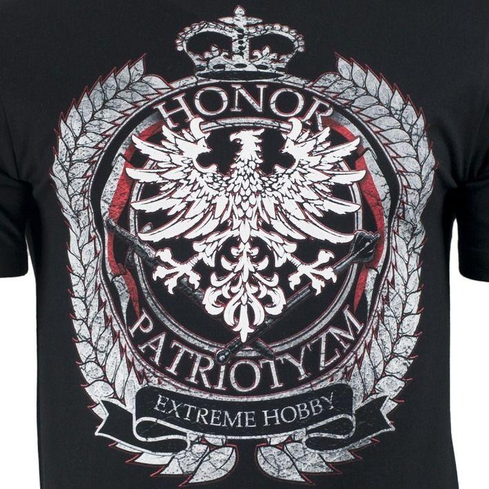 Motyw patriotyczny na koszulce 'Honor i Patriotyzm' ---> Streetwear shop: odzież uliczna, kibicowska i patriotyczna / Przepnij Pina!