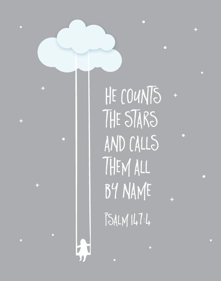 Psalm 147 #scripture #stars #God