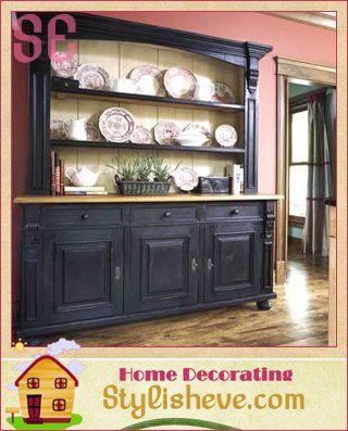 A Freestanding Hutch For Added Kitchen Storage