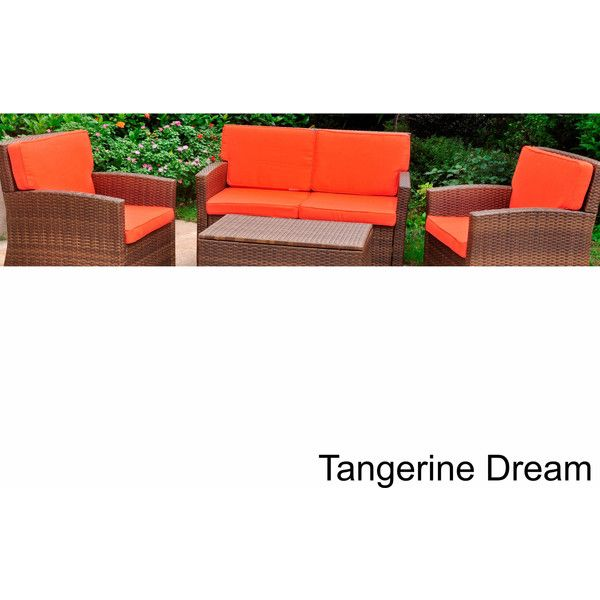 International Caravan Corded Replacement Cushions ($334) ❤ liked on Polyvore featuring home, outdoors, patio furniture, orange, orange outdoor furniture, outdoors patio furniture, poly patio furniture, weather resistant patio furniture and orange patio furniture