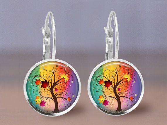 Ohrringe  Baum des Lebens-Farbwahl  12mm von MaDGreenCreations