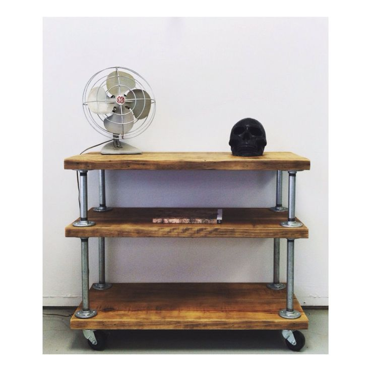 Reclaimed Wood Kitchen Media Bar Cart By