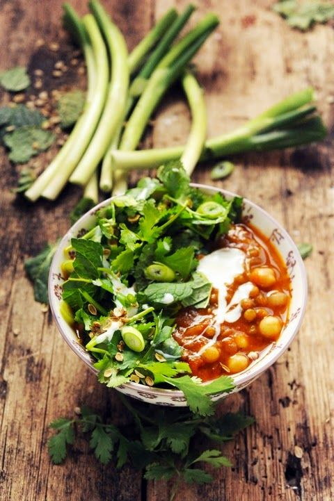 Southern soup with lentils and peas