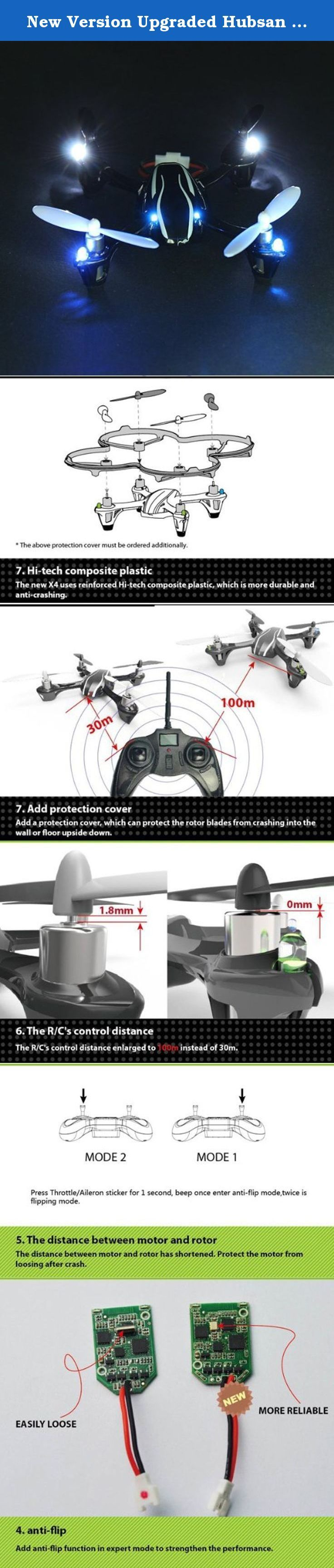 New Version Upgraded Hubsan X4 H107L 2.4G 4CH RC Quadcopter RTF with LCD Radio Controller. Description: Brand Name: Hubsan Item No.H107L Item Name: Upgraded Hubsan X4 RC Quadcopter Motor (x4): Coreless Motor Frequency: 2.4GHz Battery: 3.7V 240mAh Flight time: above 9 minutes Charging time:30 minutes Features: Latest 6-axis flight control system with adjustable gyro sensitivity Permits super stable flight Lightweight airframe with nice durability 4-ways flip(left,right,forward,backward)…