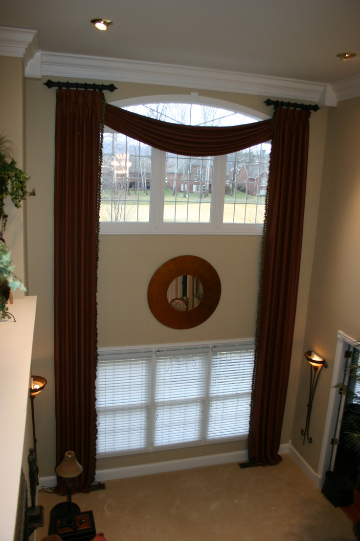 17 best images about two story drapery ideas on pinterest for Blinds for tall windows