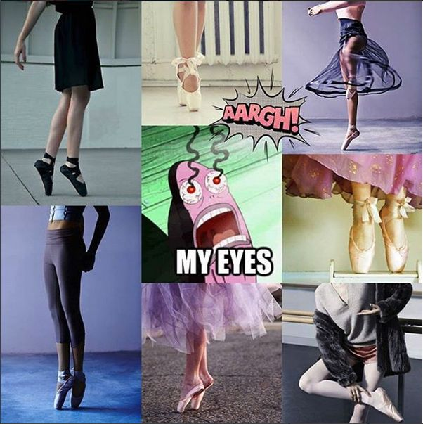 Oh my gosh, DON'T try to be a ballerina if you aren't. We can tell, and you look like crap.