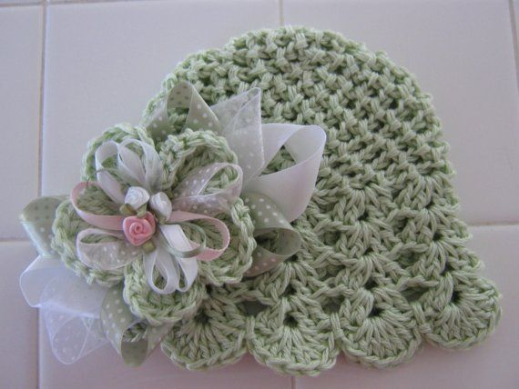 Green Blossom  Small by mygirlshats on Etsy, 24.00