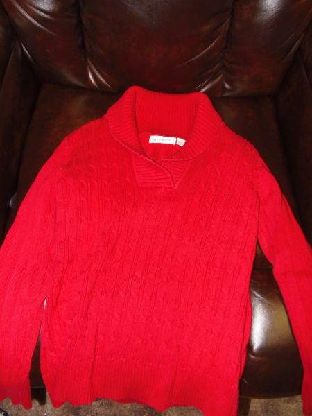 Liz Claiborne Ladies Cable-Knit Sweater Size Large