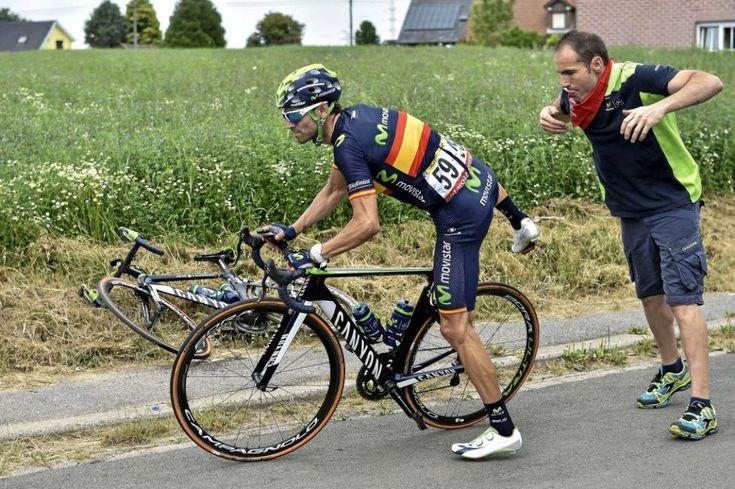 Valverde cuajó una gran etapa en el pavés.