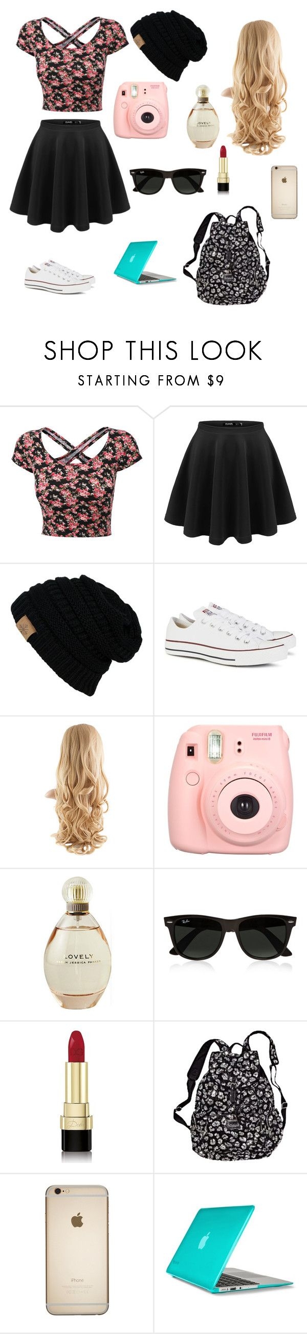 School by lillypop315 ❤ liked on Polyvore featuring Converse, Sarah Jessica Parker, Ray-Ban, DolceGabbana, Victorias Secret and Speck