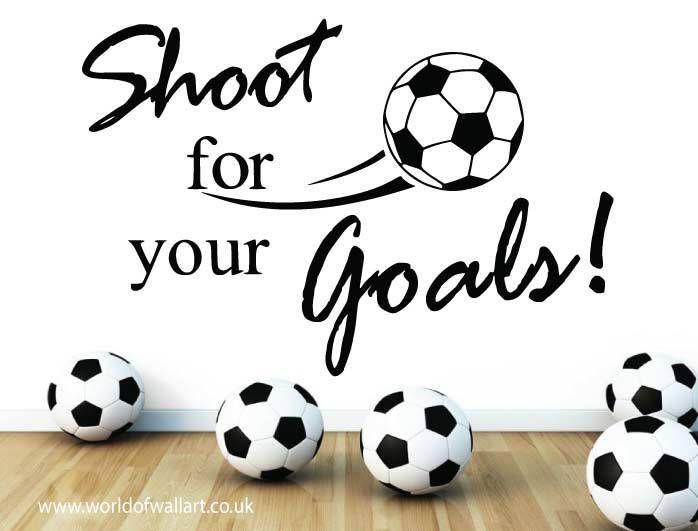 World Of Wall Art - Football Shoot For Goals Wall Sticker, £9.99 (http://www.worldofwallart.co.uk/football-shoot-for-goals-wall-sticker/)