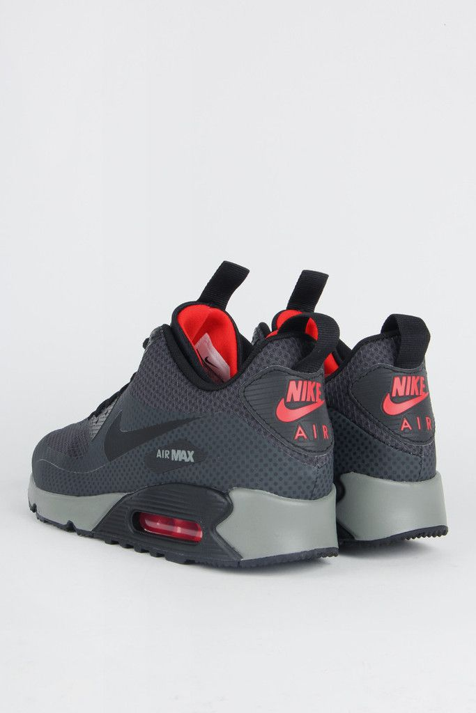new styles 35764 548ef Nike, Air Max 90 Mid Winter Print - anthracite black-chilling red-tumbled  grey   My Fashion Taste   Pinterest   Air Maxes, Nike Air Max 90s and Air  Max 90