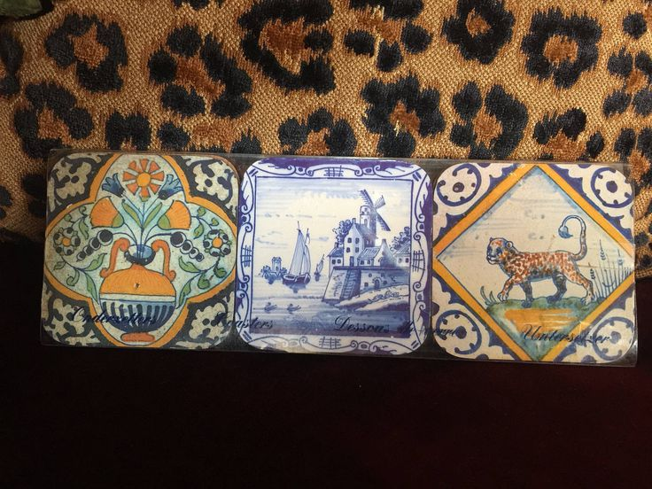 European Amsterdam country cork Coasters set of six by FrenchCountryGirl on Etsy