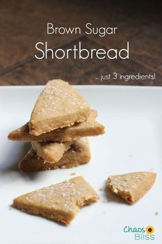 Brown Sugar Shortbread is an easy cookie recipe with just 3 ingredients!