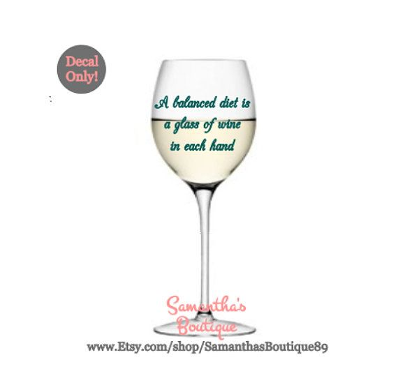 Diy you call it boxed wine i call it cardbordeaux wine glass vinyl decal